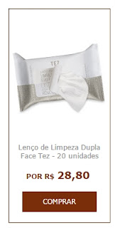 Natura tez lenço de limpeza dupla face limpa e tira a maquiagem, além de hidratar e tonificar em um só passo