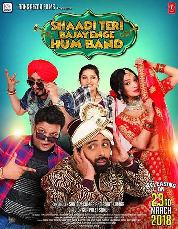 Poster Of Bollywood Movie Shaadi Teri Bajayenge Hum Band 2018 300MB Pdvd Full Hindi Movie