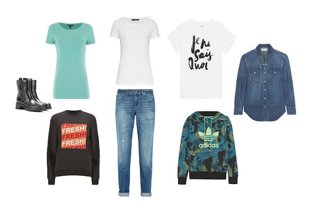 Повседневная одежда для отдыха капсульного гардероба