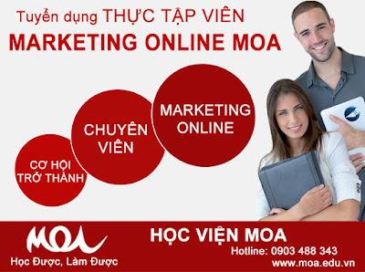 Đào tạo Marketing Online cho sinh viên tại MOA