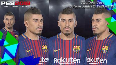 PES 2018 Faces Paulinho By Sofyan Andri