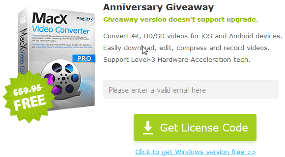 MacX Video Converter Pro License Key Code Giveaway