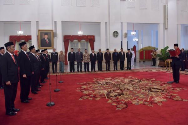 Badan Pengelola Dana Haji Dilantik Jokowi