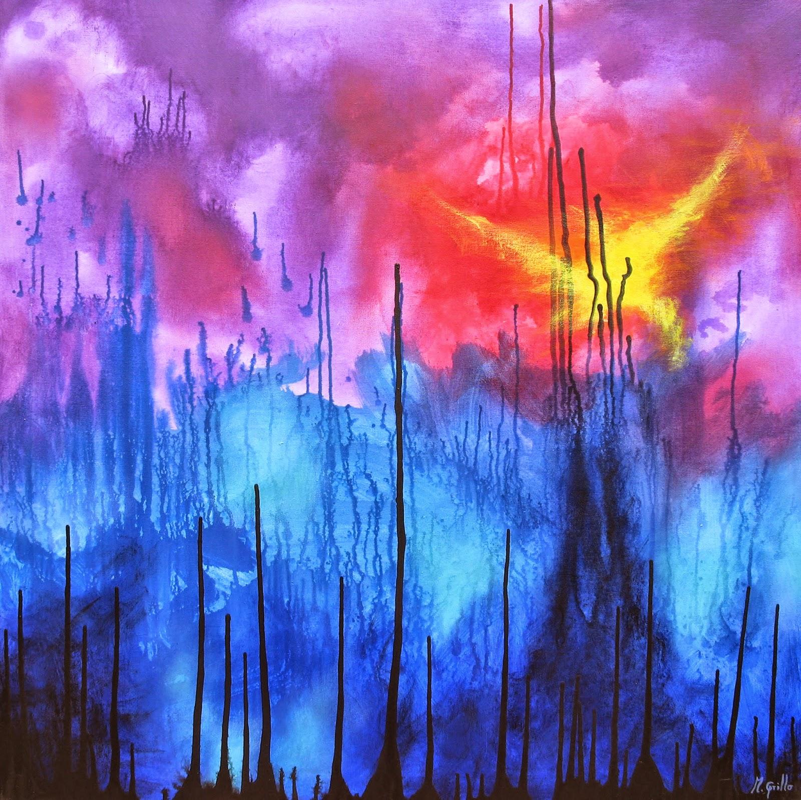 Cuadros pinturas oleos ejemplos de cuadros abstractos for Fotos de cuadros abstractos sencillos