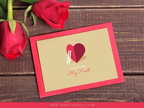 Download My Heart Valentine Card Template Free