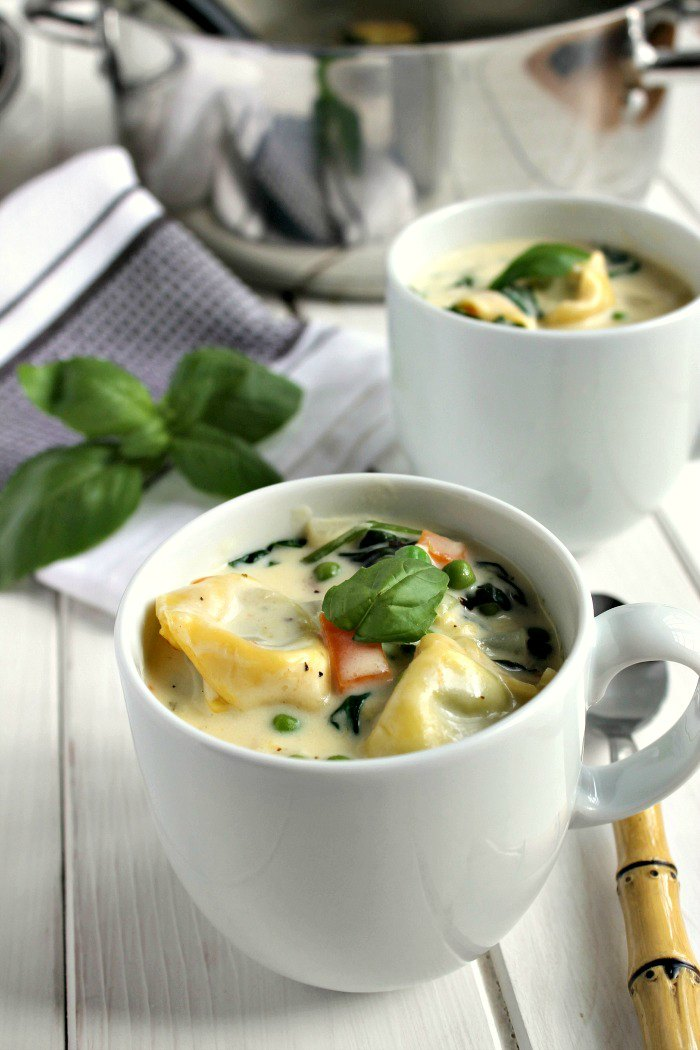 Creamy Veggie Tortellini Soup