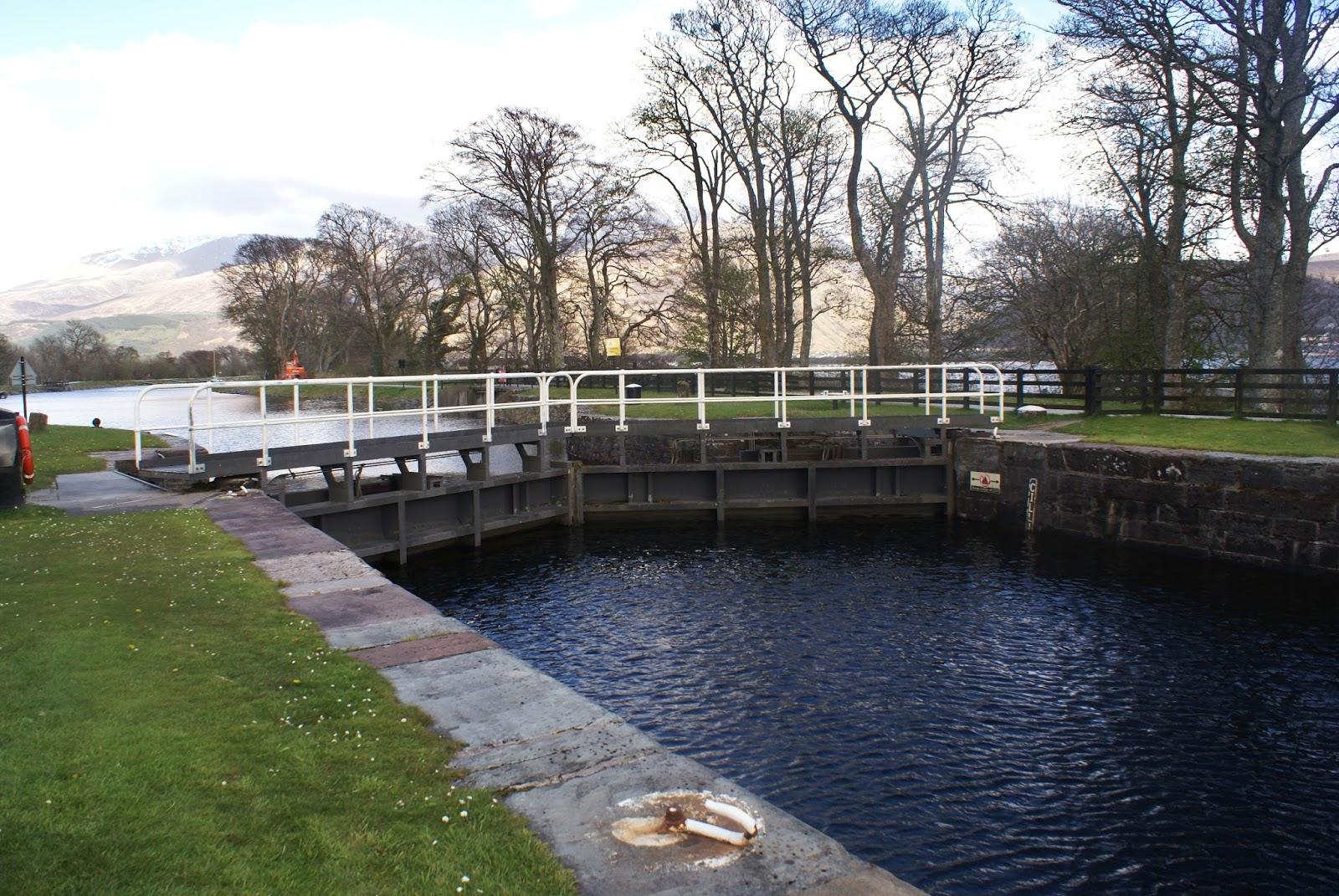 lock caledonian canal corpach fort william scotland uk