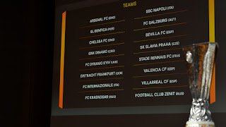teams in europa league last 16 draw