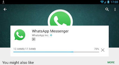 WhatsApp downloading