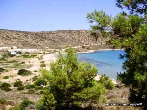 La spiaggia di Livadi ad Iraklia