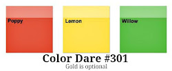 Color Dare #301 Closes Thur July 26th