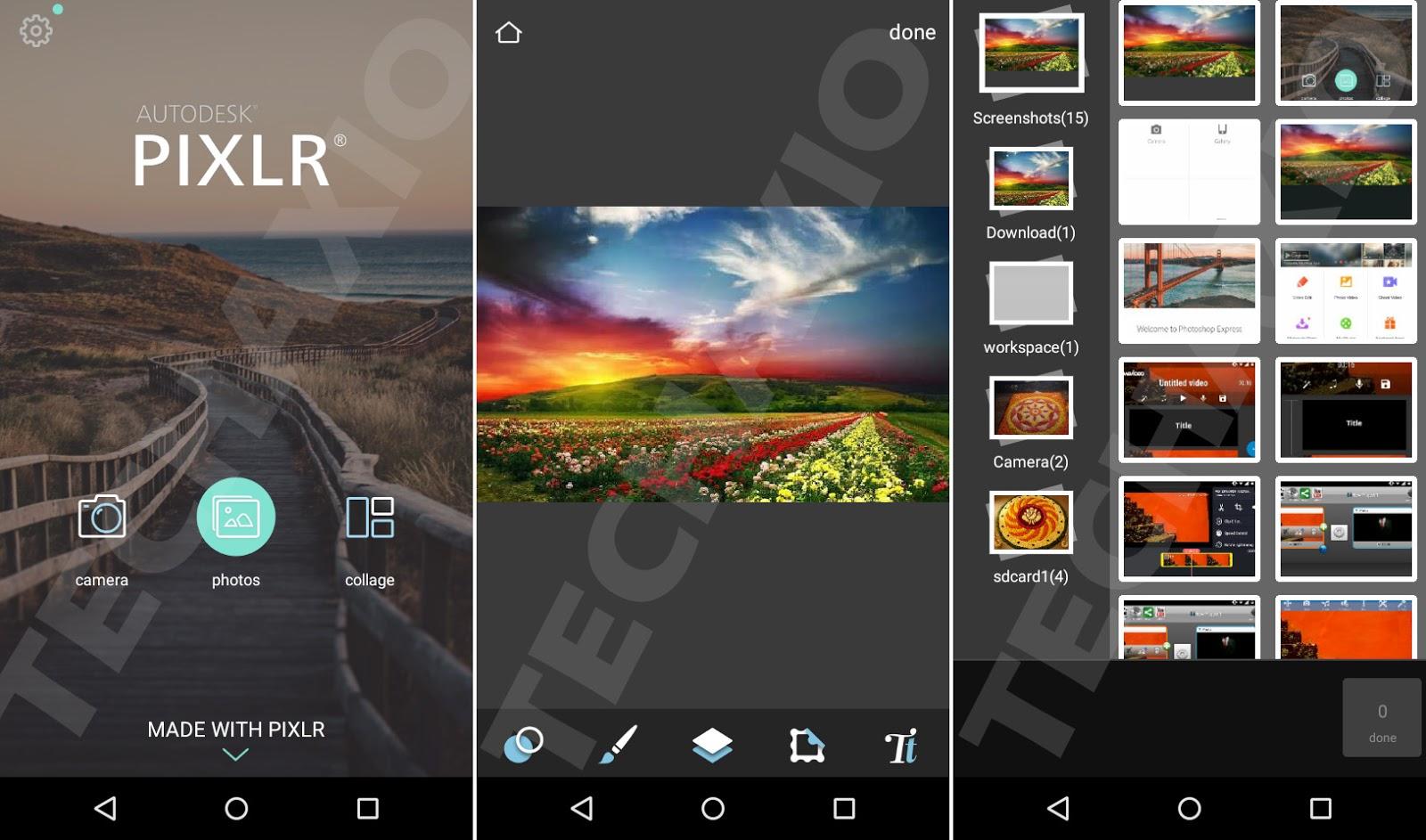 Pixlr App Screenshots