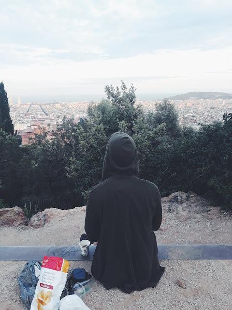 Na szczycie Parku Güell - panorama miasta