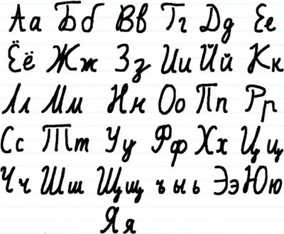 Meaning of the Russian language: Russian cursive