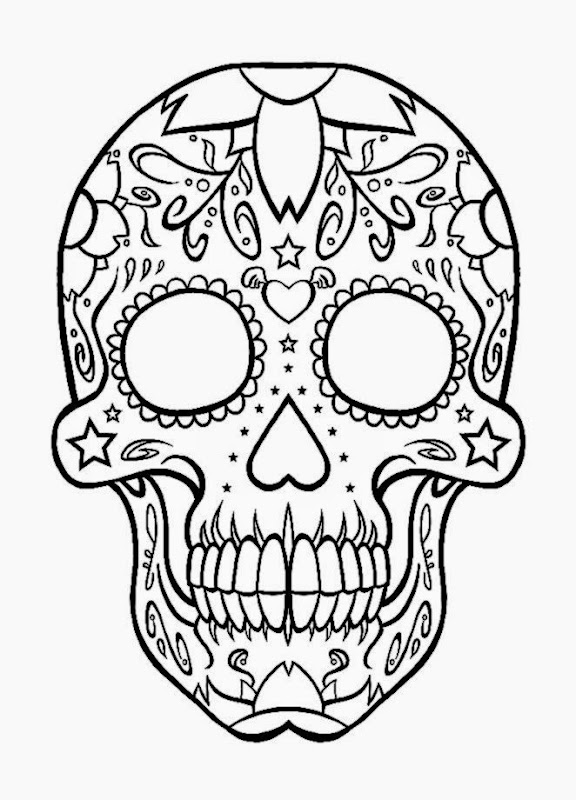 coloring pictures of skulls free coloring pictures