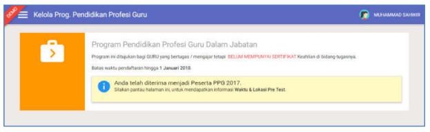 status ajuan PPG yang telah disetujui oleh Admin LPMP