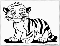 cute tiger coloring pages