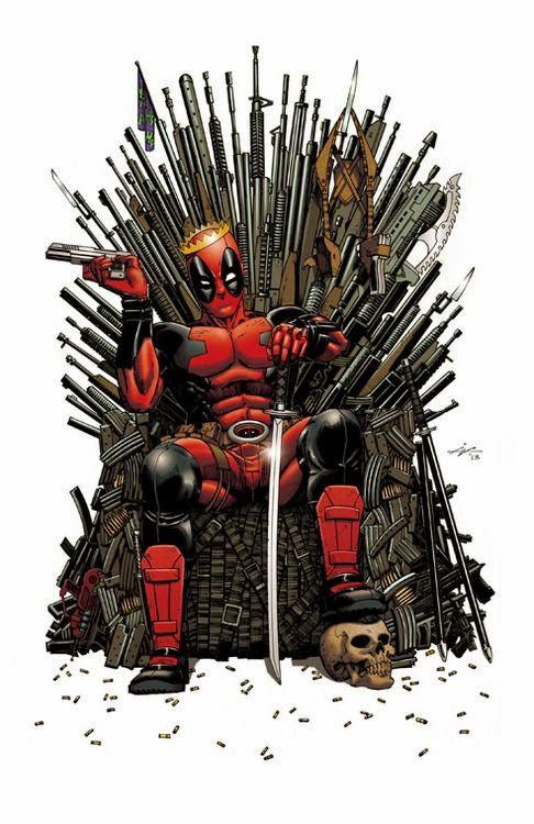 Meme de humor sobre Deadpool y Juego de tronos