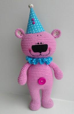 Amigurumi Pink Bear-Free Pattern