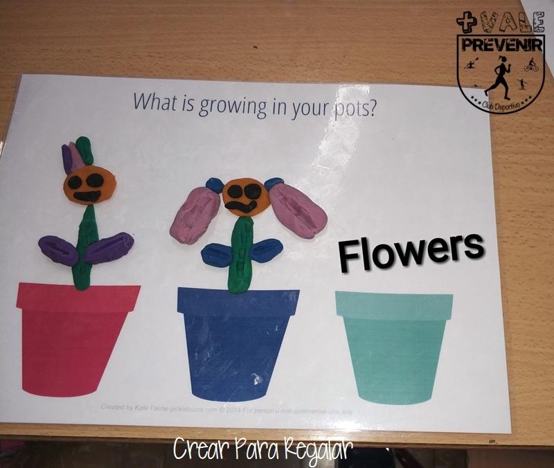 flowers con plastilina