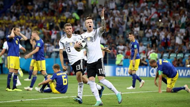 Kemenangan Untuk German Saat Melawan Swedia Dengan Skor 2 - 1