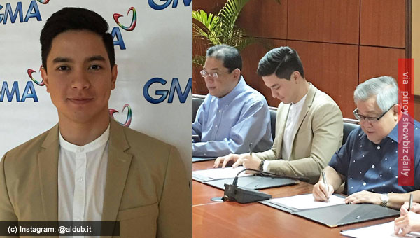 Alden Richards renews contract with GMA Network