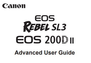 Canon Camera News 2019: Canon EOS 250D / Rebel SL3 PDF