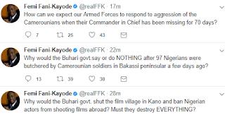 Femi Fani Kayode's tweet