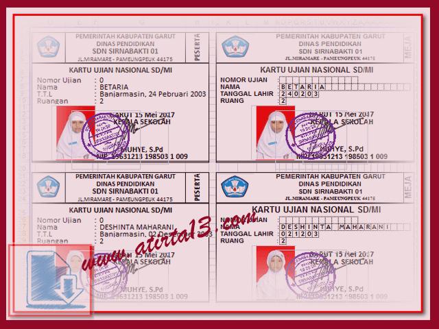 Master Aplikasi Cetak ID Card Peserta Dan Pengawas Ujian Sekolah Format Excel.Xlsx