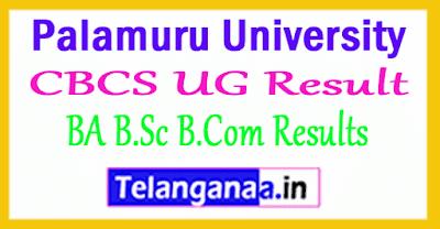 Palamuru University CBCS UG Result