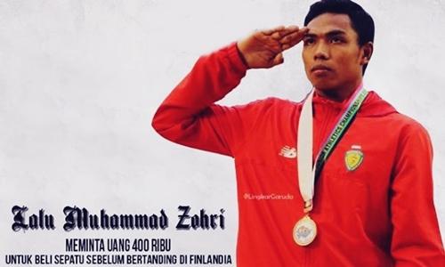 Biodata Atlet Lari Lalu Muhammad Zohri Juara Dunia Atletik, Dan Sepatu 400 Ribu