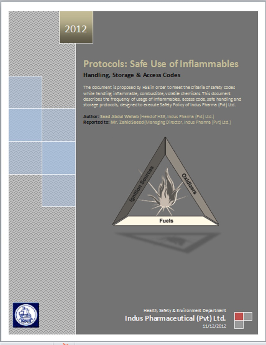 Saad Abdul Wahab (Applied Science & HSE): Protocols: Safe handling
