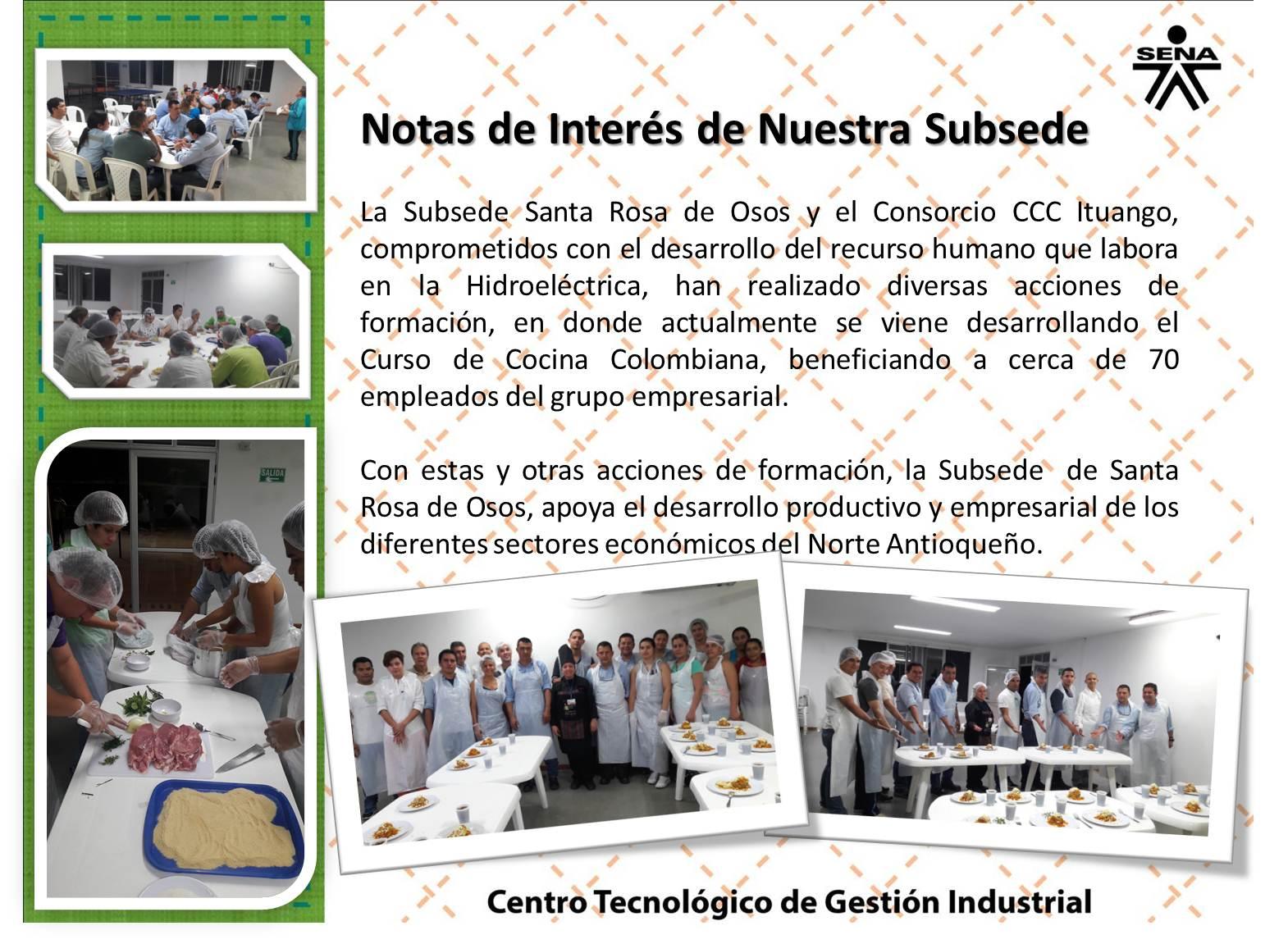 Centro textil y de gestion industrial sena regional - Clases de cocina medellin ...