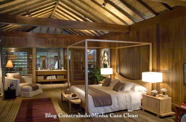 Construindo minha casa clean 30 casas de campo decoradas veja dicas do r stico moderno - Pavimentos rusticos para interiores ...