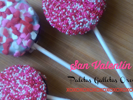 "Dia de San Valentin ""Paletas de Galletas Oreos"""