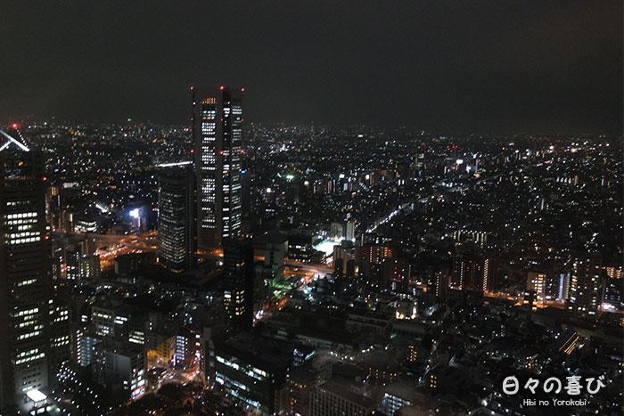 vue depuis l'observatoire du metropolitan government building à tokyo la nuit