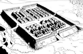 la storia dei romani e dell'esercito, l'accampamento