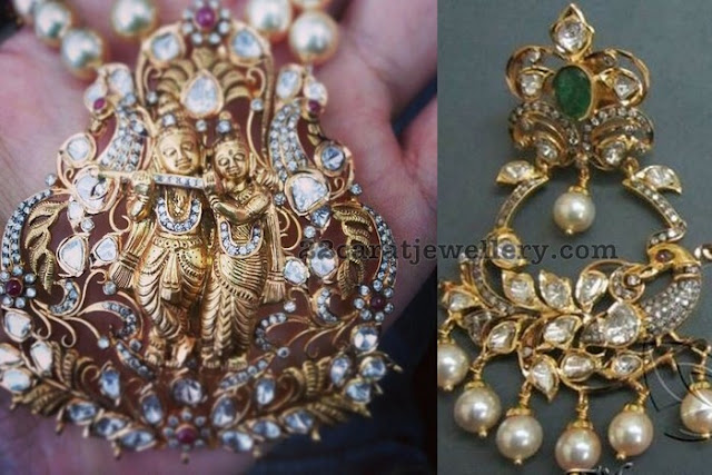 Radhakrishna Pendant with Chandbalis