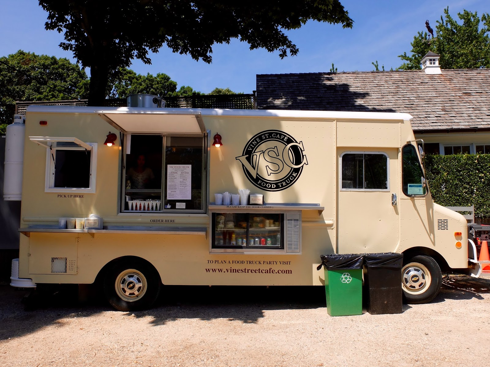 Vine Street Cafe Is A Fancy Seafood Restaurant Which Last Year Opened Shelter Islands First Food Truck It Sits In The Lot Outside