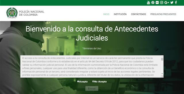 Certificado Antecedentes Judiciales Colombia