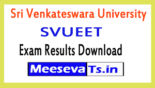 Sri Venkateswara University SVUEET Exam Results Download 2017