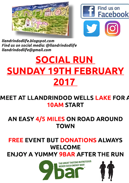LLANDRINDODLIFE FEBRUARY SOCIAL RUNNING EVENTS