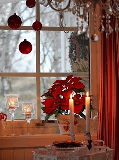 decorar navidad rojo