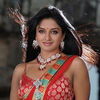Hot Vimala Raman Red Saree Latest Pics
