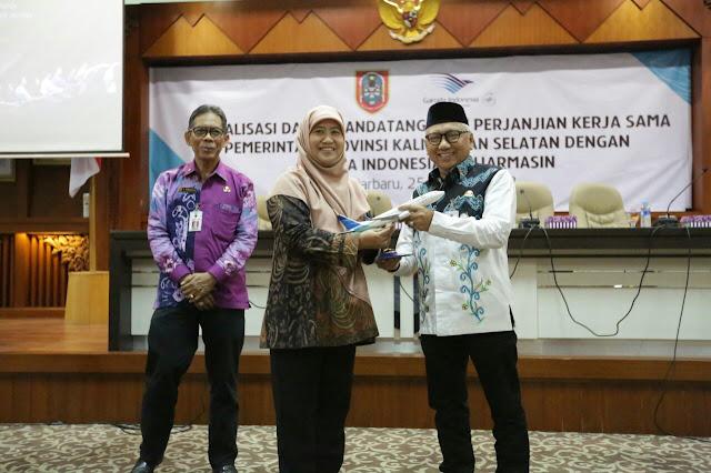 Pemprov Kalsel Jalin Kerja Sama dengan Garuda Indonesia