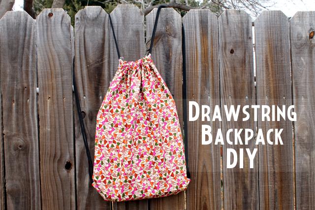 Punk Projects Drawstring Backpack Diy