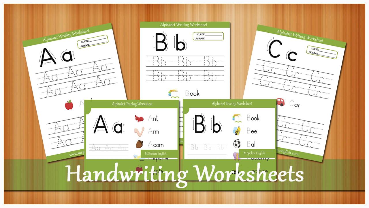 M Spoken English: Handwriting Worksheets