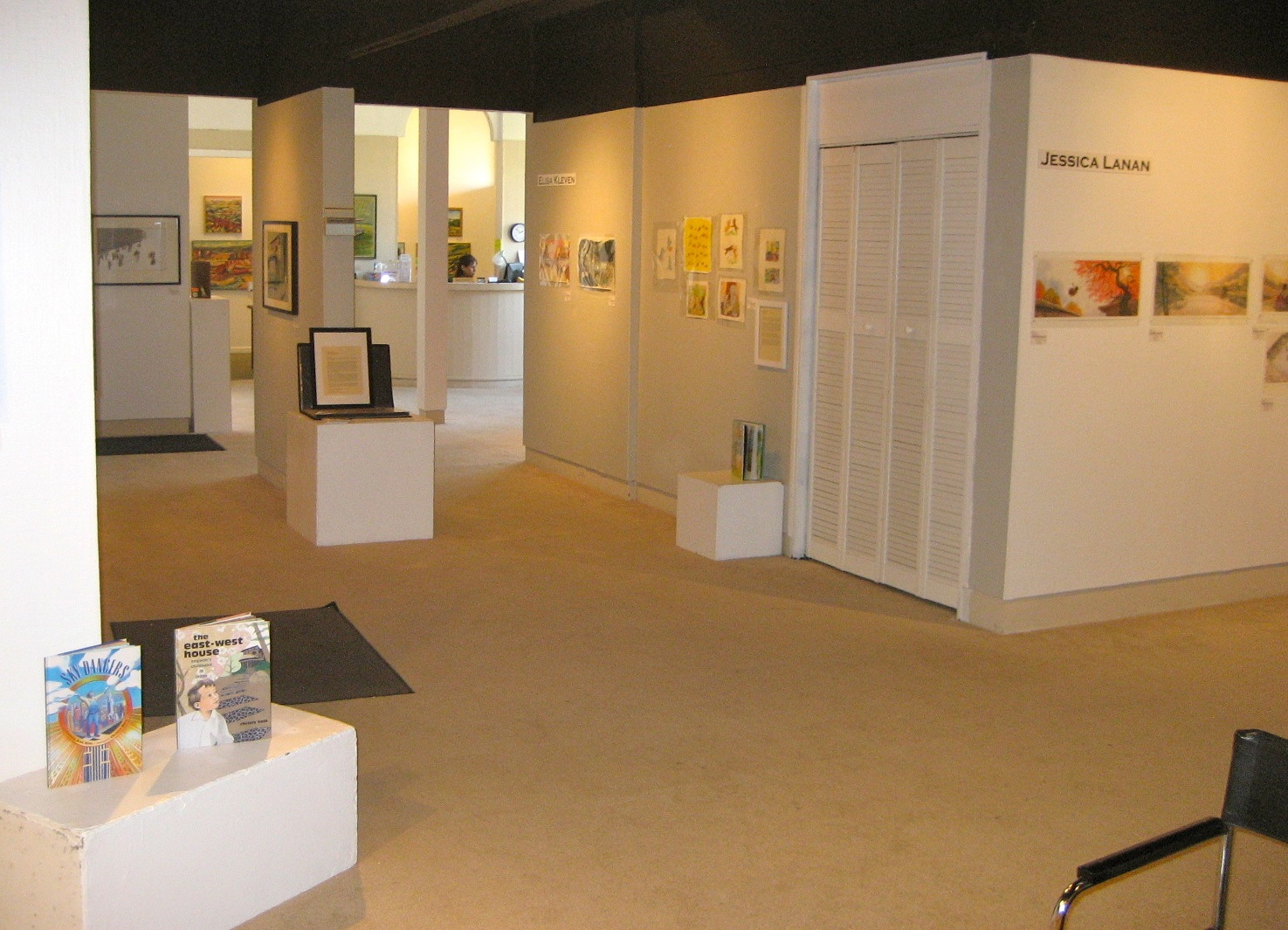 Photo of the children's book illustration exhibition at the Sun Gallery in Hayward, CA (Photo courtesy of the Sun Gallery)