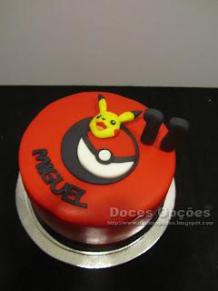 Bolo de aniversário Pikachu pokemon