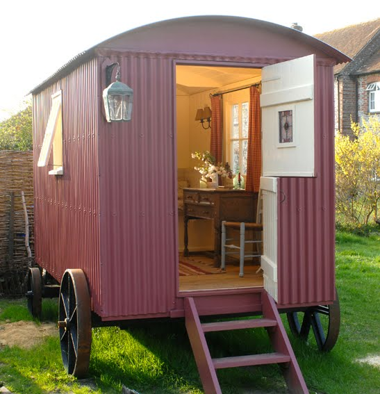 Shepherd S Hut: At Home With Red: Shepherd Huts
